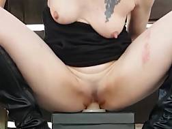 naughty pale chick riding