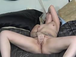 enjoy spreading legs stroking