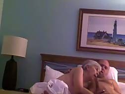 old couple penetrate bed