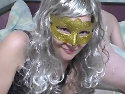 masked wifey happily penetrating