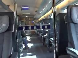 sweet blond sucked train