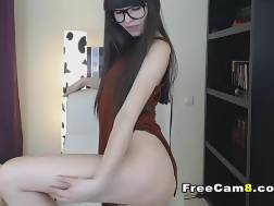 sexual backside nerdy chick