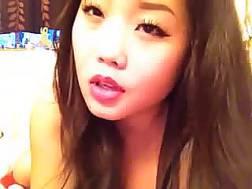 beautiful oriental beauty herself