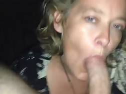 blond mother blowing cock