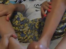 girl masturbating penis feet