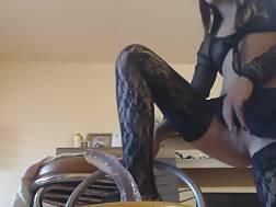 skinny chick stockings enjoys