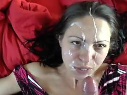 facial cumshot cute face