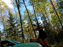girlie gets bent car