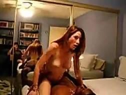 bedmate enjoys interracial cowgirl