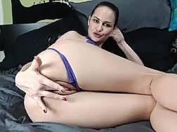sensual white nymph rubs