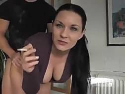 gf smokes doggystyle sex