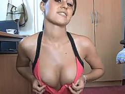 demonstrating amazing breasts cam