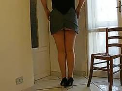 horny wifey teases legs