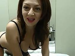 hot darkhaired mother strips