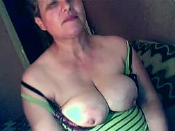 short-haired mature skank flashes