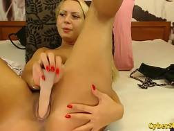 boobed blond solo ejaculation