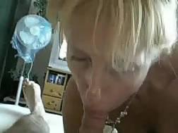 blonde milf works prick