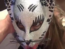 masked wifey gets throat