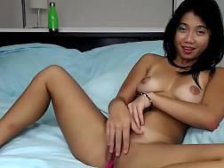 beautiful young asian touching