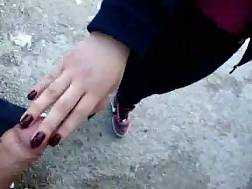 french girl outdoor suck