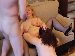 nasty threesome couple mature