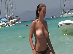 large bouncing boobies beach