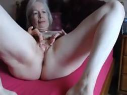 lonely pale granny plays