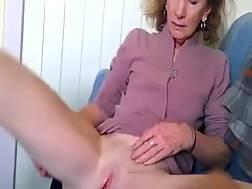 grandma rubs shaved cunt
