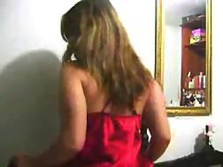 boobed girlie rubs camera