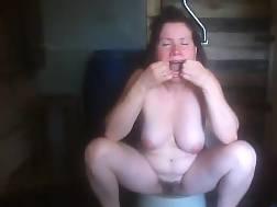 mature woman spreads throat