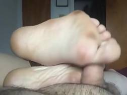 wife uses sexy feet