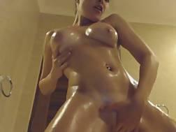oiled babe dances naked