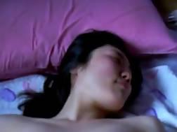 shy asian girlfriend home