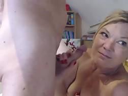 mature blonde slut masturbates