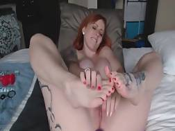 enticing redhead girlie enjoys