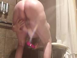 mature woman takes shower