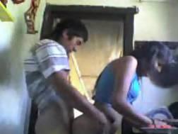 latin teen amateur kitchen