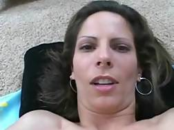 sexy brunette mom wife