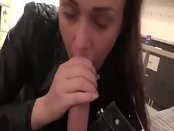 pretty brunette woman swollen