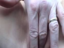 mature lady uses small