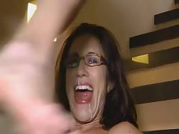 excited darkhaired milf gets