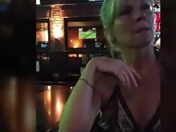 cougar bar penetrates bathroom
