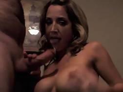 boobed babe sucks dick