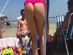 couple tight butts beach