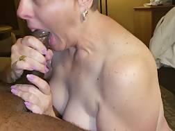 mature white lady swallows