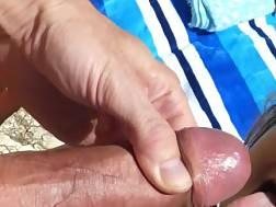 facial cum shot beach