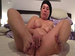 fat mature lady stroking