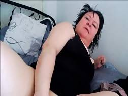 mature woman penetrates gaping