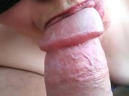sucking husbands hard pecker
