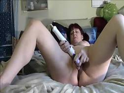 busty woman uses two
